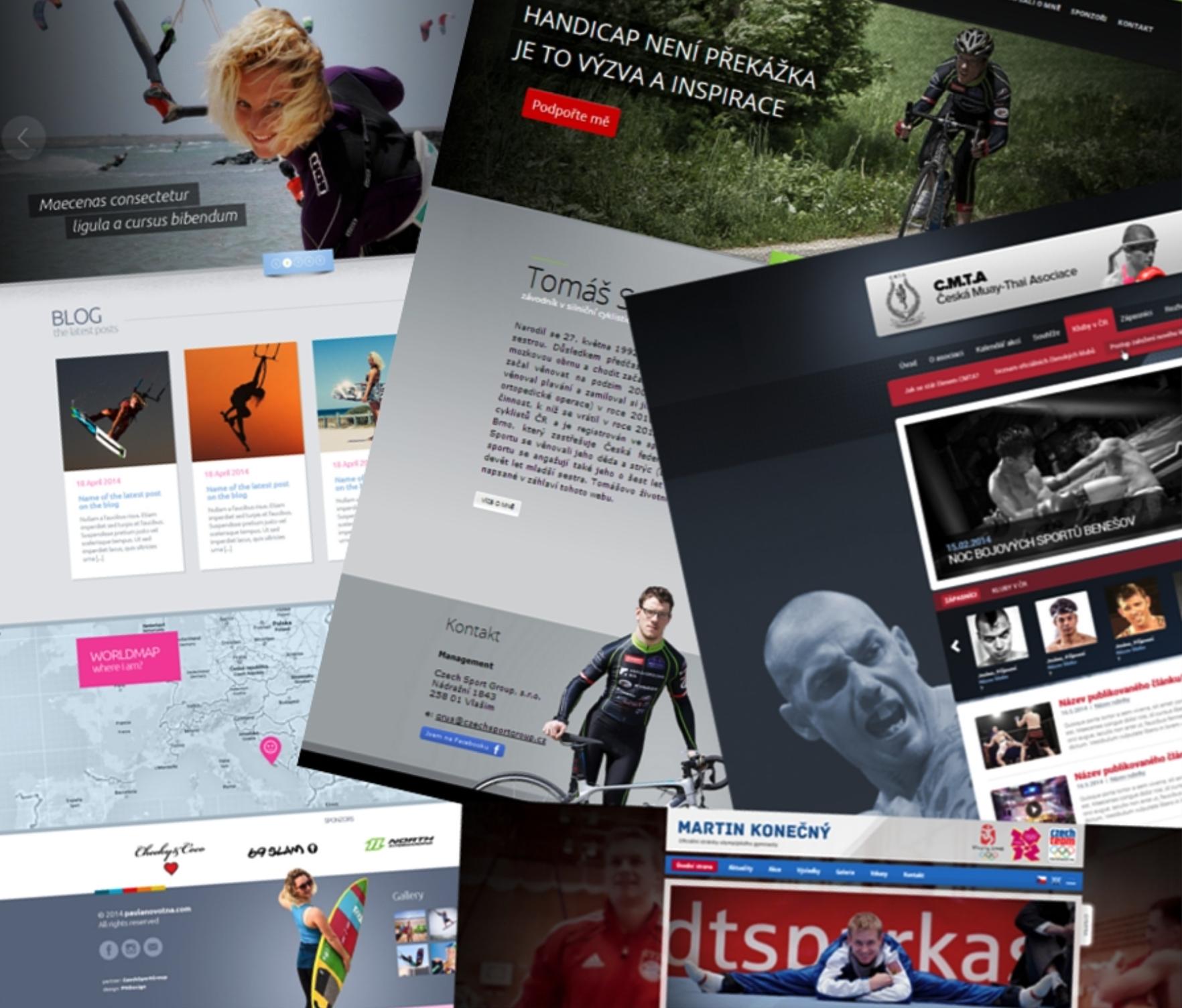 Profesionální webové stránky pro vrcholové sportovce Czech Sport Guru