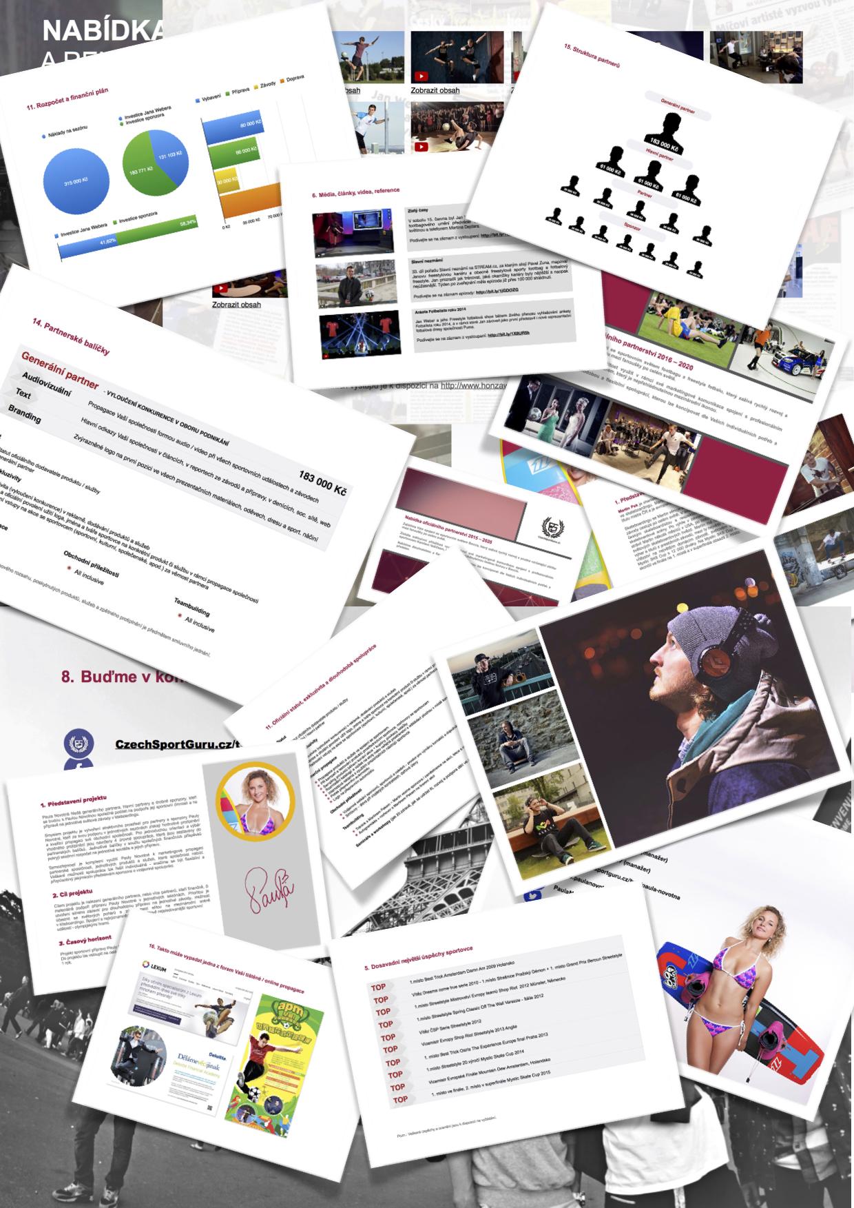 Projektová dokumentace pro jednání se sponzory CzechSportGuru - Hledám sponzora - Jak na sponzoring - Jak oslovit sponzory